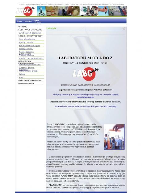 Labo Mix Odczynniki Chemiczne Szkło Sprzęt Laboratoryjny